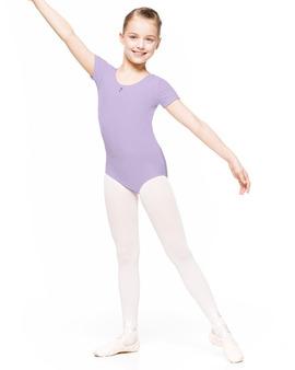 CARMEN – body baletowe dziecięce wrzosowe