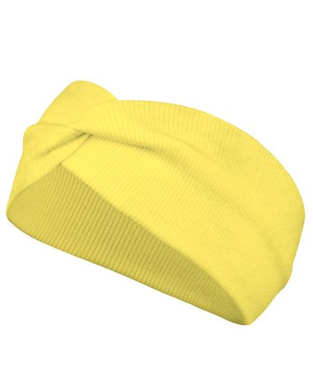 Opaska Prążek Bawełniana Młodzieżowa Żółta