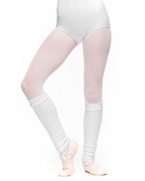 Getry Średnie Ocieplacze Młodzieżowe Baletowe Białe